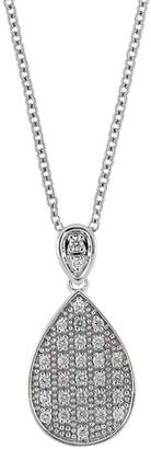 Bony Levy 18K White Gold Diamond Pave Pear Pendant Necklace - 0.11 ctw