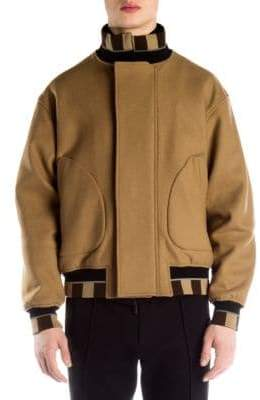 Fendi Wool-Blend Bomber Jacket