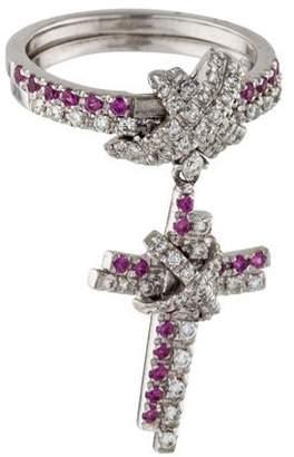 Fratelli Staurino 18K Diamond & Sapphire Cocktail Ring
