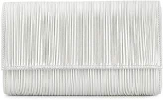 Casadei metallic pleated clutch bag