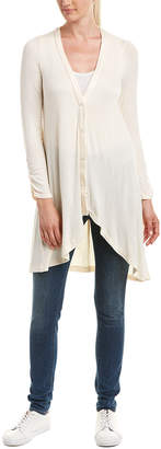 Three Dots Featherweight Shirred Cardigan