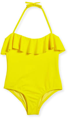 Milly Minis Ruffle Top One-Piece Swimsuit, Size 4-7