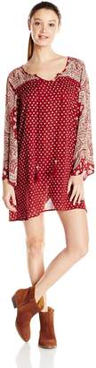 Angie Junior's Printed Bell Sleeve Dress