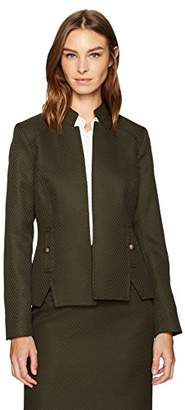 Tahari by Arthur S. Levine Women's Open Front Stand Collar Jacket