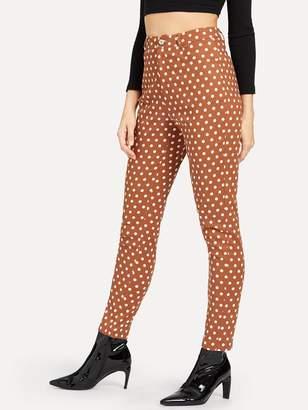 Shein High Waist Polka Dot Print Pants