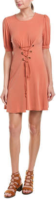 BCBGeneration Lace-Up A-Line Dress