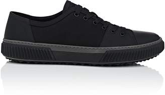 Prada Men's Rubberized Leather & Nylon Sneakers