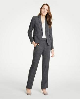 Ann Taylor The Tall Straight Leg Pant In Fine Crosshatch - Classic Fit