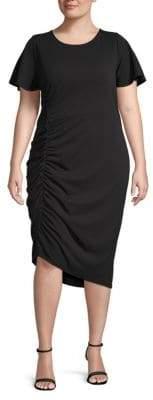 Rachel Roy Plus Asymmetrical Ruched Dress