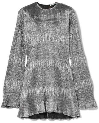Georgia Alice - Sublime Lamé Mini Dress - Silver