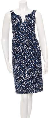 Oscar de la Renta Silk Patterned Dress