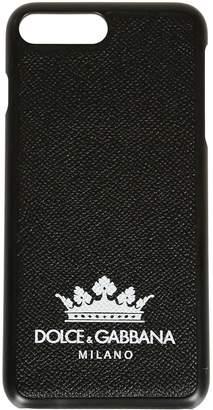 Dolce & Gabbana Crown Print Iphone 8+ Case