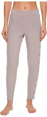 Yummie by Heather Thomson Compact Cotton Ankle Leggings with Grommets Women's Casual Pants