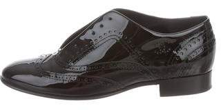 Chanel Patent Leather Brogue Oxfords