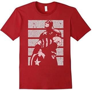 Marvel Captain America Avengers Profile Graphic T-Shirt