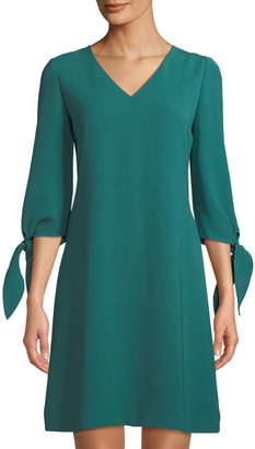 Lafayette 148 New York Kenna Split-Sleeve Finesse Crepe Dress