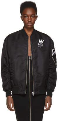 McQ Black Patches MA-1 Bomber Jacket