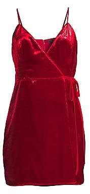 BCBGMAXAZRIA Women's Shimmer Velvet Minidress