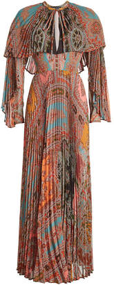 Etro Printed Dress with Pleats