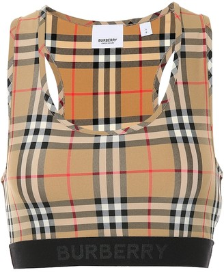 Burberry Check sports bra