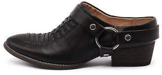 Django & Juliette New Liita Black Womens Shoes Casual Shoes Heeled