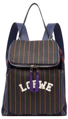 Loewe Goya Varsity Backpack - Mens - Navy Multi