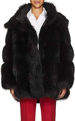 Prada Women's Fox Fur Hooded Coat