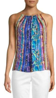 Laundry by Shelli Segal Multicolored Stripe Sleeveless Top