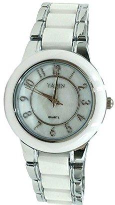Alexis usfw973 a新しいラウンドPNP Shinyシルバー時計ケースBoy Girlセラミック時計ファッション腕時計