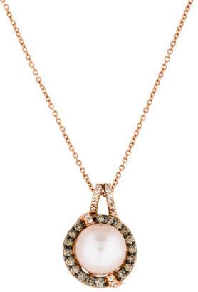 Le Vian Pearl and Diamond Pendant Necklace $575 thestylecure.com