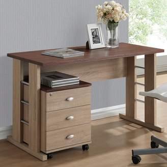 Baxton Studio Wholesale Interiors 3 Drawer Woodrow Writing Desk