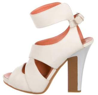 Philosophy di Alberta Ferretti Suede Ankle-Strap Sandals