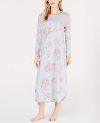 Miss Elaine Knit Printed Short Nightgown