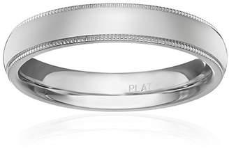 Standard Comfort-Fit Platinum Milgrain Band