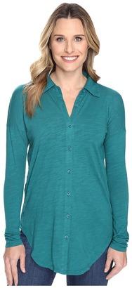 Mod-o-doc - Slub Jersey Drop Shoulder Side Button Shirt Women's Clothing $95 thestylecure.com
