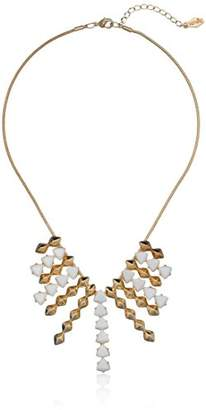 Kensie Fearless Gold-Plated Trillion Shower Necklace
