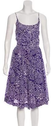 Tory Burch Patterned Sleeveless Midi Dress