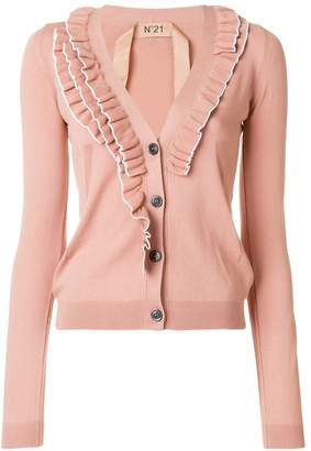 No.21 frill detail cardigan