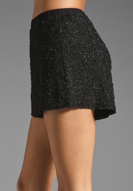 Lauren Conrad Paper Crown by Topaz Short in Black/Black Beading