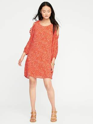 Old Navy Ruffled Cold-Shoulder Swing Dress for Women