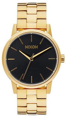 Nixon Analog Small Kensington Goldtone Bracelet Watch