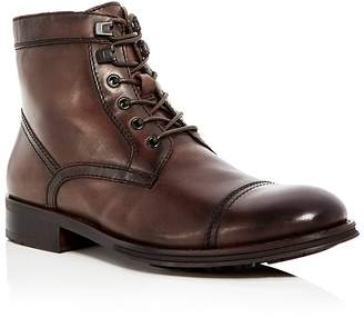 Kenneth Cole Men's Design Leather Cap Toe Boots - 100% Exclusive