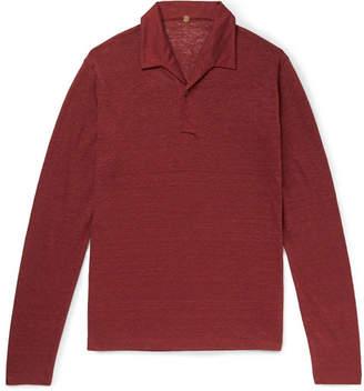 Caruso Slub Linen Polo Shirt
