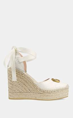Gucci Women's Leather Platform-Wedge Espadrilles - White