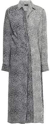 Rag & Bone Karen Leopard-print Silk Midi Shirt Dress