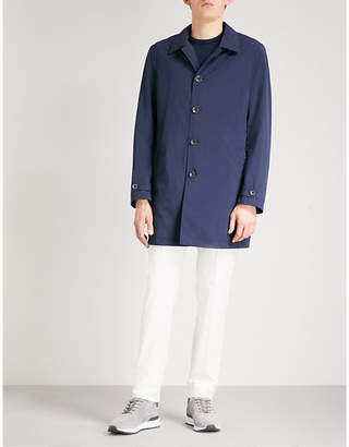 Canali Longline shell overcoat