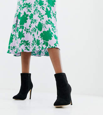 London Rebel Wide Fit Stiletto Ankle Boots