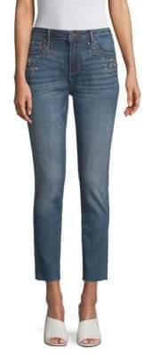 Driftwood Jackie Embellished Cropped Skinny Jeans