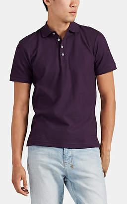 Barneys New York Men's Cotton Piqué Polo Shirt - Purple