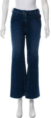 Calvin Klein Collection Mid-Rise Wide-Leg Jeans